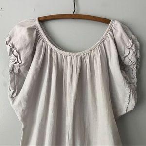 Anthropologie Dresses - Anthropologie MK2K Gray Cotton Dress Tunic - S